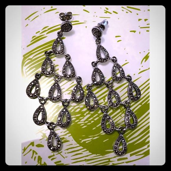 Jewelry marcasite chandelier earrings poshmark marcasite chandelier earrings aloadofball Image collections